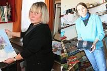V ateliéru a dílničce. V Hluboké u Krucemburku bylo o víkendu možné zajít během Dne otevřených ateliérů hned na dvě místa. Jedním z nich byl ateliér malířky Zdeňky Hovorkové(vlevo), druhým byla dílna Olgy a Pavla Mitanových.