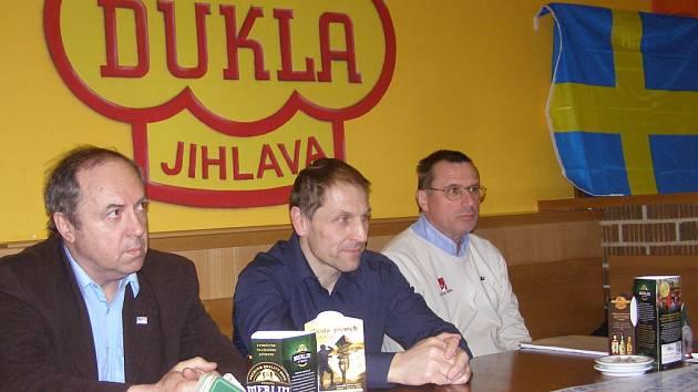 Na start Švédů v Jihlavě se těší rovněž Milan Nový, Bedřich Ščerban a Aleš Kratochvíl (zleva).