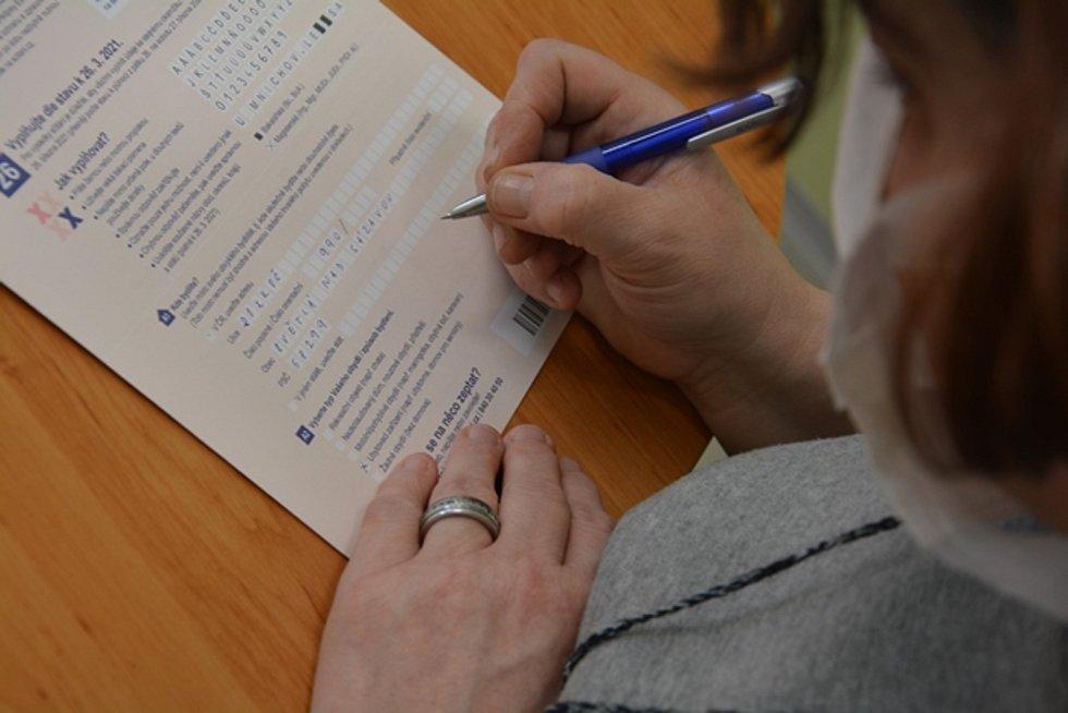 Sčítání lidu v ženské věznici ve Světlé nad Sázavou.
