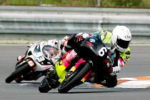 Brodský motocyklový jezdec Michal Prášek (na snímku) dojel na závěrečném podniku Alpsko–jadranského šampionátu ve třídě 125 GP na druhé pozici.