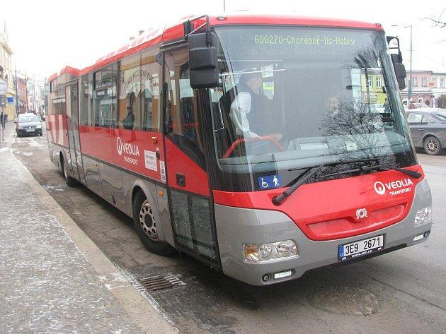 Veolia představila v Chotěboři nové autobusy.
