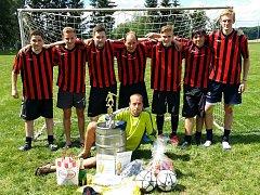 Historickým vítězem se v sobotu stali Cvrčci (na snímku), kteří jako domácí tým poprvé vyhráli Vysočina Cup.