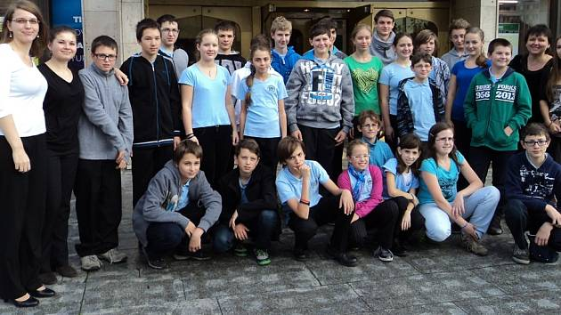 Orchestr Pohoda a členové kvarteta po svém výkonu v Praze.