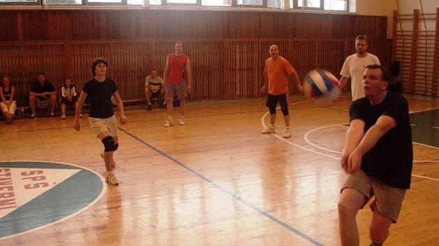 Vítězové. Nultý ročník Amatérské volejbalové ligy v Havlíčkově Brodě ovládl tým Plyšových myší (na snímku).