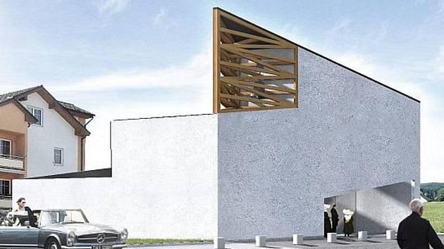 Autor návrhu Milan Stejskal pojal vzhled kostela moderně.