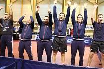 Vítězný tým havlíčkobrodských stolních tenistů.