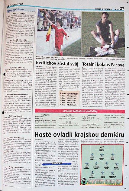 Sumář jarní části KP zčervna 2003.