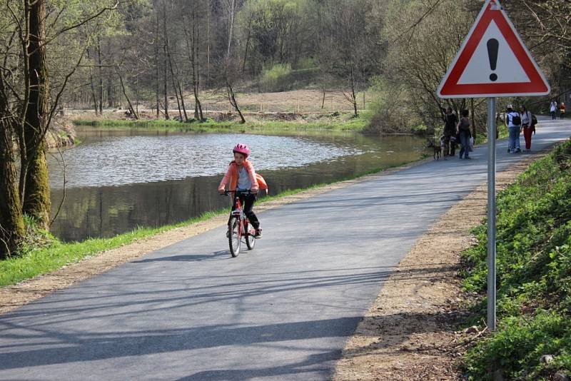 Slavnostní otevření cyklostezky v Ledči nad Sázavou.