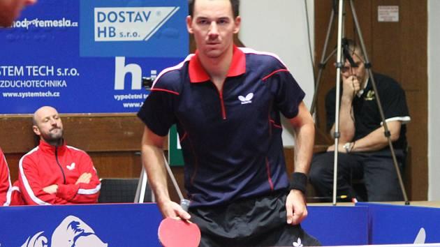 Posila brodských stolních tenistů Tomáš Tregler (na snímku) se rychle zabydlel  a je oporou týmu.