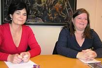 Autorky projektu  Šance. Vpravo je Miroslava Procházková, vlevo vedoucí projektu Hana Ondráčková.