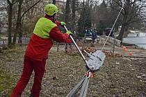K měření se použilo několik přístrojů, které byly rozmístěny po celém stromě. Samotné ohýbání stromu se pak provádělo takzvaným hupcukem, který vyvinul sílu okolo 2,5 tuny.