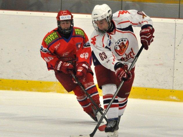 Střelecká produktivita zradila mladší dorostence v domácím zápase s Krkonošemi, které vyhrály 2:1.