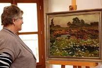 Rozkvetlá louka. Nedatované plátno od Jaroslava Panušky bude od pátku vystaveno v Galerii výtvarného umění v Havlíčkově Brodě.