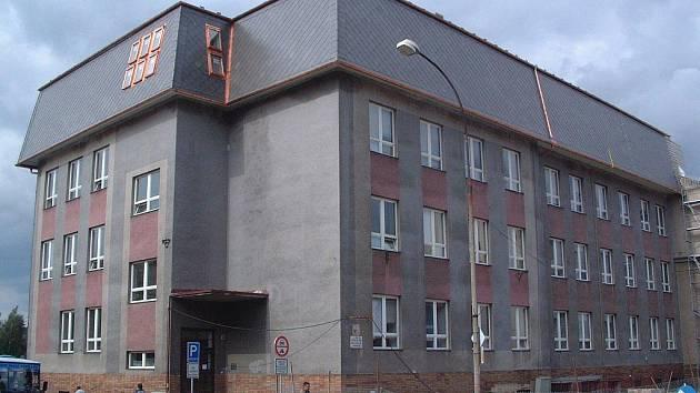 Dřívější vzhled stavební školy v Havlíčkově Brodě.