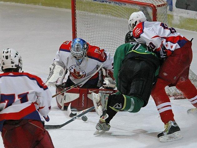 Podle trenéra Marišky je brankář Daniel Dolejš jednou z největších opor mužstva.