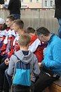 Devadesátku letos budou mít na dresu havlíčkobrodští hokejisté k 90. výročí založení klubu. Dres pokřtily legendy brodského hokeje Jan Suchý a Jiří Holík.