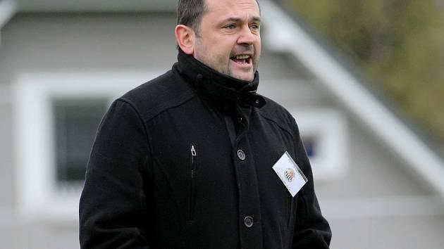 Trenér Richard Zeman (na snímku) už Havlíčkův Brod nepovede. Po definitivě sestupu převzal Slovan Miroslav Plíšek.