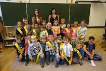 Na fotografii jsou žáci ZŠ Štáflova Havlíčkův Brod, třída 1. A paní učitelky Michaely Arbelovské.