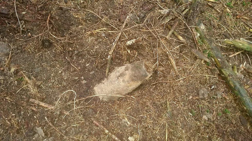Nalezený granát.