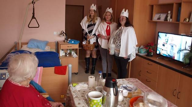 Tříkrálová koleda v havlíčkobrodském domově pro seniory.
