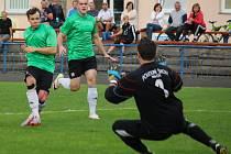 Tři góly inkasoval Na Losích světelský gólman Jindřich Adamec (na snímku) od rezervy brodského Slovanu. Světlá si po výsledku 3:1 připsala třetí porážku v sezoně.