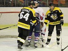 Děčín vyrovnal na domácím ledě sérii. Ve středu se všichni stěhují opět na led Moravských Budějovic.