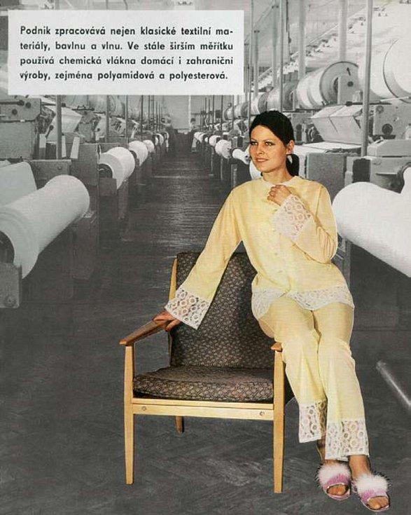 Nezadržitelný projev ducha doby v propagačním tisku národního podniku PLEAS z roku 1974.