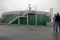 Bioplynová stanice v Lípě.