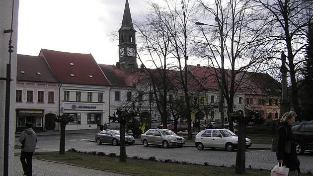 Chotěbořské náměstí.