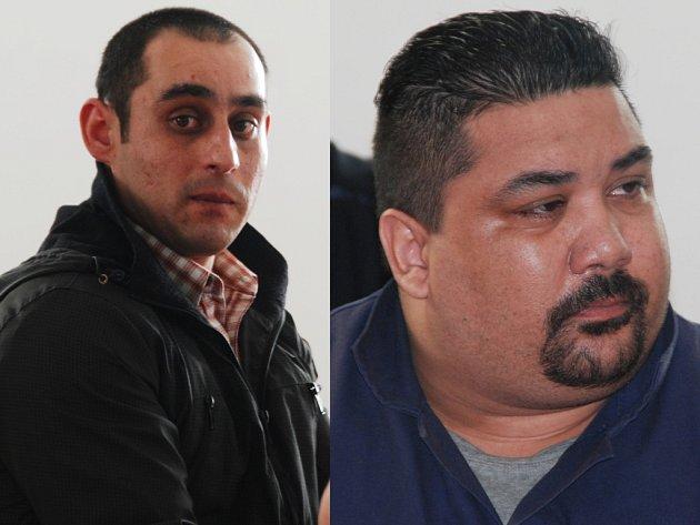 Dealer a jeho kurýr. Miroslav Bačo (vlevo) i Roman Patkaň se u soudu k obchodování s pervitinem doznali. Čekají, že za to dostanou mírnější tresty.