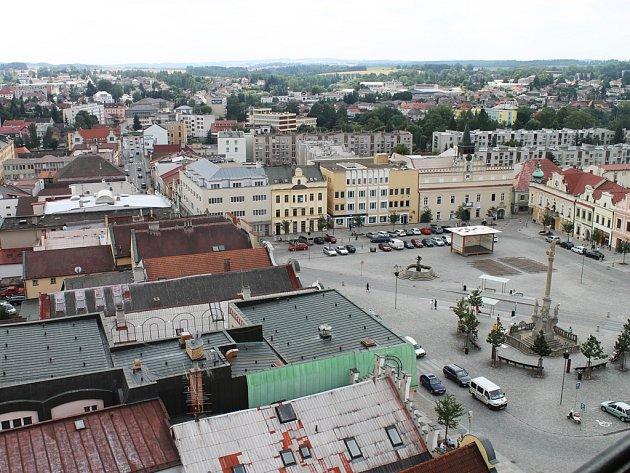 Brodské Havlíčkovo náměstí z výšky.