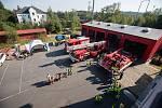 Den otevřených dveří u drážních hasičů v Havlíčkově Brodě.