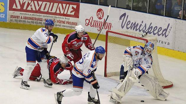 Z hokejového utkání Havlíčkův Brod - Litoměřice.