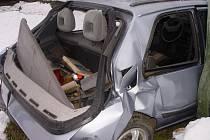 Auto na odpis. Auto lékaře Jindřicha Turinského zrušilo zadní část vozu při dopravní nehodě mezi Bílkem a Chotěboří. Lékař tvrdí, že jeho auto řídil někdo jiný.