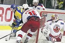 Z hokejového utkání Havlíčkův Brod - Ústí nad Labem.