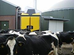 Unikátní technologie se skrývá za těmi žlutými dveřmi.