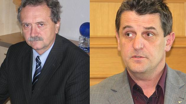 Z machinací při výběru dodavatele posypových aut obvinila policie šéfa Krajské správy a údržby silnice Jana Míku (vlevo) i hejtmanova náměstka Libora Joukla.