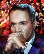 Který známý světový šachista je na obrazu dánské umělkyně Cariny Jørgensen?