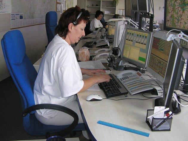 Dispečinku záchranné služby. Ilustrační foto.