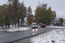 Ani kritická místa na silnici kolem České Bělé nebyla tentokrát ucpána kamiony.