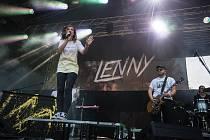 Lenny na hudebním festivalu Sázafavest.