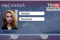 Nové čipové karty. Modrá občanská, červená rodinná.
