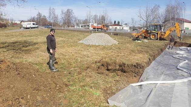 Zahájení stavby nového skateparku v Havlíčkově Brodě.