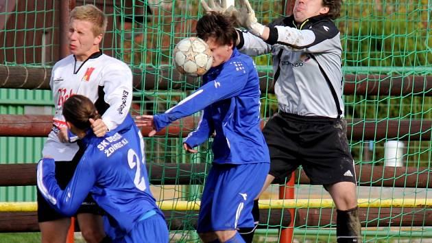 Premiéru si ve Ždírci před domácím publikem odbyl Pavel Veselý (na snímku) a zrovna v derby s brodským Slovanem.