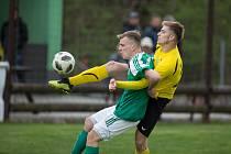 Utkání fotbalové Divize D mezi SK Tatran Žďírec nad Doubravou a FC Strání