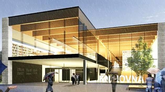 Takto by měla vypadat nová budova krajské knihovny v Havlíčkově Brodě. Repro.
