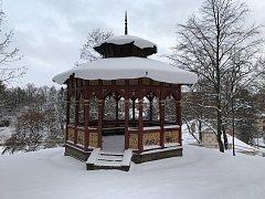 Dřevěný altán památkáři v posledním čtvrtletí uplynulého roku prohlásili za kulturní památku.