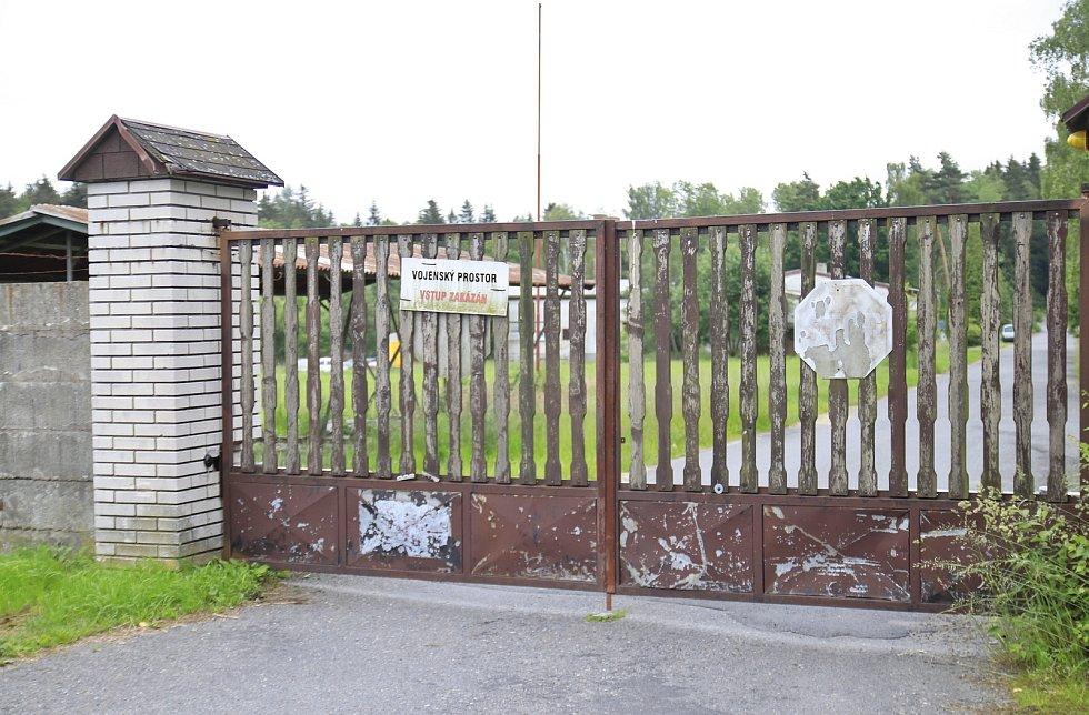 Vojenský areál na Bílku u Chotěboře.