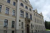 Budova soudu v Pelhřimově.