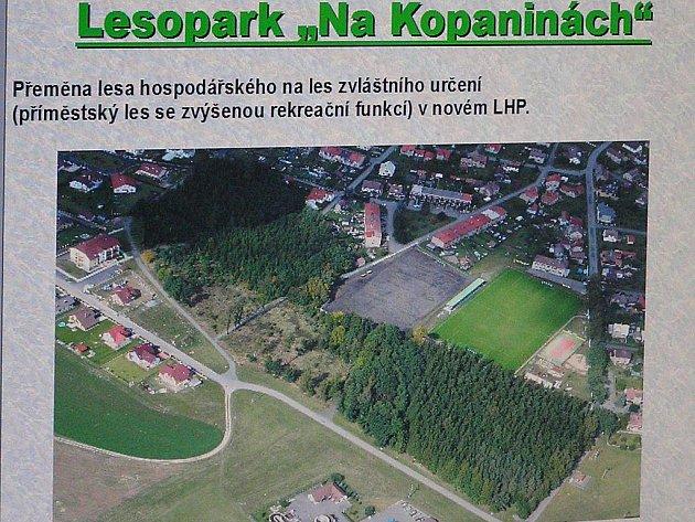 Návrh parku dle městského úřadu.